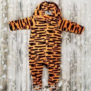 🐯 Tiger Fuzzy Onesie; 3 Months